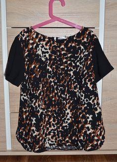 Kup mój przedmiot na #vintedpl http://www.vinted.pl/damska-odziez/bluzki-z-krotkimi-rekawami/11094316-elegancka-bluzka-z-krotkim-rekawkiem-zip-leopard-panterka