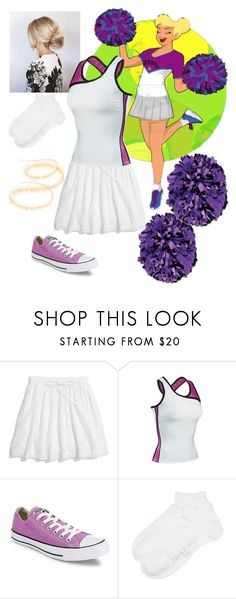 """Disney high: Tinkerbell"" by flamingfirewolf ❤ liked on Polyvore featuring Disney, Madewell, Converse and Falke"