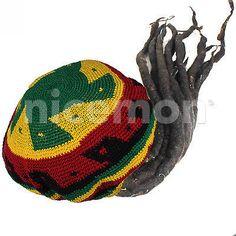 Rasta Dreadlocks Dread Wig Hat Tam Rastafari Costume Jamaica Reggae Marley 1LOV