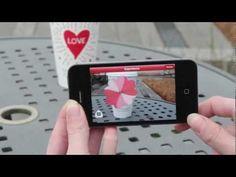 Starbucks ha creado una aplicación móvil de realidad aumentada para promocionar su marca en San Valentín. La compañía ha diseñado unas tazas especiales para la fecha que enfocadas con un smartphone hacen volar corazones