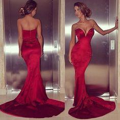 Mermaid sweetheart zipper floor-length sexy long prom dresses,MB 290