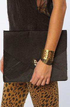 The Oversized Envelope with Skull Detail in Black by *Accessories Boutique #misskl #winyourpin