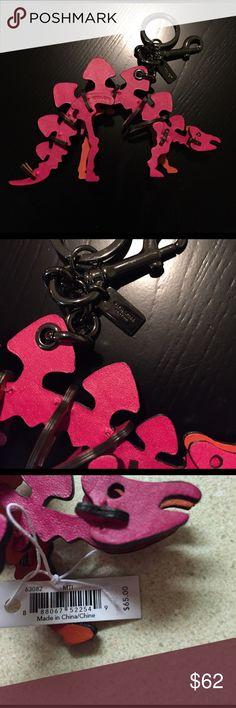NWT coach Dino keychain. Bag charm NWT Dino Coach bag charm keychain will sell for less via ️️ Accessories Key & Card Holders