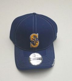 New Era Seattle Mariners 39Thirty Flex Fitted Hat Blue Neo MLB Size L XL New e530796bb6bb