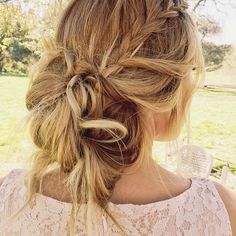 Lauren Conrad's New Boho Hairstyle Is Pitch-Perfect Spring Wedding Hair via Brit + Co