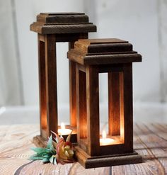 Reclaimed Wood Lanterns Rustic Thanksgiving Decor Rustic lantern Wooden lantern Thanksgiving Table Rustic Home Decor Wood Lantern set Reclaimed Wood Projects, Wooden Projects, Rustic Lanterns, Candle Lanterns, Rustic Thanksgiving, Lantern Set, Rustic Candle Holders, Table Centerpieces, Barn Wood