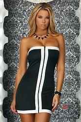 """ROBE COURTE TUBE """"VERONA"""" ZIP CENTRAL  http://www.prod4you.com/#!collection-robes-courtes-sexy/crus"""