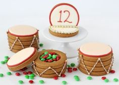 Candy Filled Drum Cookies that can be made with children and use for storing reinforcers!