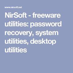 NirSoft - freeware utilities: password recovery, system utilities, desktop utilities