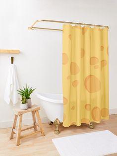 Kennst du jemanden, der Käse liebt? Dann ist dieser Käse Duschvorhang ein originelles Geschenk. Gold Shower Curtain, Butterfly Shower Curtain, Pink Shower Curtains, Pink Showers, Decorative Leaves, Gold Bathroom, Downstairs Bathroom, Grey Wallpaper, White Feathers
