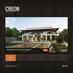Architecture WordPress Theme With Homepage jQuery Slider Animation, Sub Menus, Project Gallery & Blog