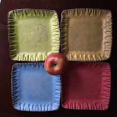 Square Plate - The Crayon Collection Ceramic Tableware, Ceramic Decor, Hand Built Pottery, Square Plates, Handmade Pottery, Cool Things To Make, Clay, Ceramics, Collection