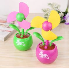 2017 Summer Office Portable Handheld Mini Usb Fan 3 leaves Sun Flower Fans Electric Cooler Air Condition