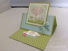 The Craft Spa - Stampin' Up! UK independent demonstrator : More Timeless Textures & Happy Home - Simplest Square Easel Card