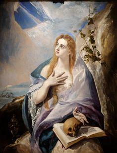 """El Greco (1541–1614) """"The Penitent Magdalene"""" Type d'objet: Tableau Date: (1576 - 1577) Technique/matériaux: huile sur toile Dimensions: hauteur : 1 565 mm. largeur : 1 210 mm. Musée des beaux-arts de Budapest"""
