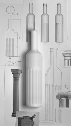 Laudum Roble, by Lavernia & Cienfuegos Temple Architecture, Cienfuegos, Industrial Design Sketch, Wine Packaging, Sketch A Day, Bottle Design, Packaging Design Inspiration, Design Reference, Design Process