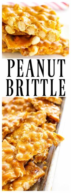 GRANDMA'S PEANUT BRITTLE is one of my favorite holidays traditions. This classic treat of salty-sweet perfection, is surprisingly easy to make.    #candy #christmas #Christmascandy #holidays #holidayfood #holidaysweettreats #holidaytreats #peanutbrittle
