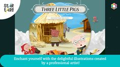Three Little Pigs: Star Tale is a great one to add to your device library! #apps #stories #threelittlepigs