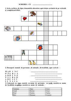 6654510 fise-limba-romana-clasa-i Visual Perceptual Activities, Romanian Language, School Lessons, Worksheets For Kids, After School, Kids Education, Preschool Activities, Romans, Homeschool
