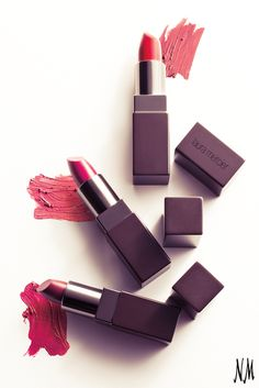 Sweep these Laura Mercier lipsticks on for a pop of color and luxurious moisture. Pair with lush lashes and glowing skin.