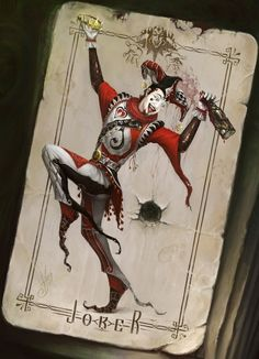Le Joker,art numérique par Oleg Shekhovtsov #digitalart #joker #card