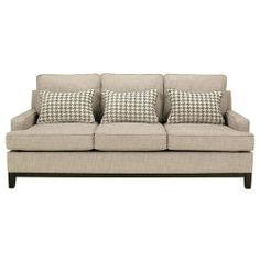 couch with tan houndstooth