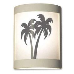 Twin Palms Shadow Tan Wall Sconce - (In Shadow Tan)
