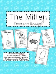 The Mitten Book {Emergent Reader} product from Pocketful-of-Centers on TeachersNotebook.com