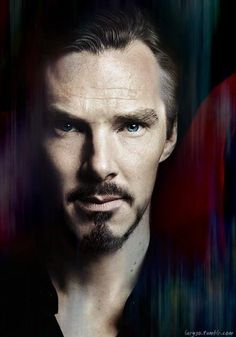 Ben With Dark Brown Hair, Moustache and Beard With Blue-Green Eyes as Doctor Strange