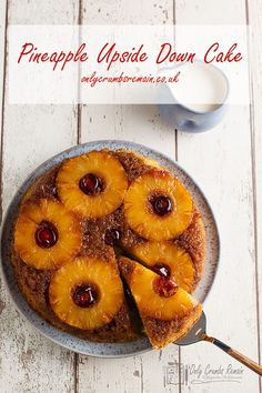 This easy Pineapple Upside Down Cake recipe makes a delicious dessert served warm with cream or custard. Or serve a slice cold with morning coffee or afternoon tea. Either way this classic dessert cake is doddle to make and a fabulous treat. Classic Desserts, Fun Desserts, Delicious Desserts, Sweet Recipes, Cake Recipes, Dessert Recipes, Glazed Cherries, Pineapple Upside Down Cake, Cake Servings