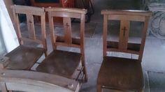 Old church chairs