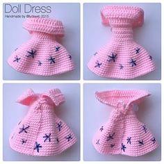 Instagram photo by lydiawlc - Doll Dress for my crochet doll @ Rou Rou