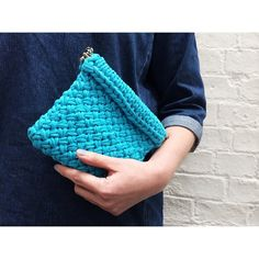Wool and the Gang Lil' Hold Tight Clutch Knitalong - photo by @Wool and the Gang