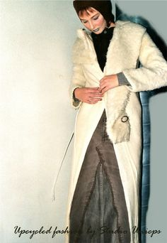 Upcycled fashion: Blanket coat, jeans skirt & top by Studio Unicps (2000 - Deken-jas, jeans rok & top) #Unicps