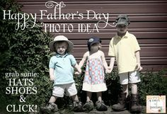 Happy Father's Day photo ideas!  just grab some of daddy's stuff, click & frame! via @NestofPosies