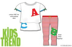 Cotton is fun when learning your abc's with stripes and bows. CHIARIstyle