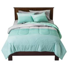 Room Essentials® Ombre Block Bedding Collection - If I can't find anything better this will be my simple mint bed. =)