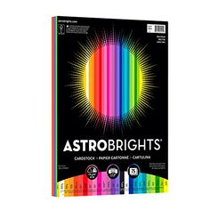 """Astrobrights Colored Cardstock, x 65 lb / 176 gsm, """"Spectrum"""" Assortment, 75 Sheets Neenah"""