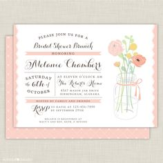 Bridal Shower Brunch Invitations Wording bridal shower brunch