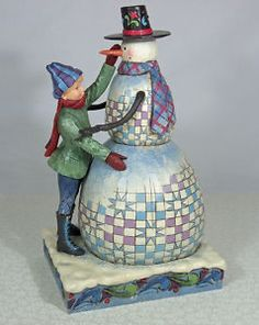 "♥ Jim Shore Snowman and Boy ""Frosty Friends"" 4005443 ♥"
