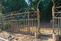 DIY Stone Pillars & Planters – Pioneering The Simple Life Garden Arbor, Veg Garden, Garden Trellis, Garden Fencing, Garden Junk, Garden Sheds, Glass Garden, Cerca Natural, Rock Planters