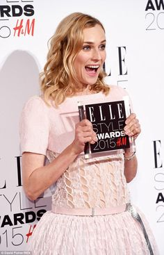 Diane Kruger in Chanel Couture SS15 at the 2015 Elle Style Awards - Feb 2015