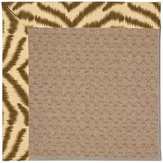 Capel Zoe Grassy Mountain Machine Woven Area Rug Rug Size: Square 6'