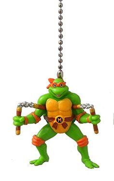 Teenage Mutant Ninja Turtles Figure Ceiling FAN PULL light chain (MICHELANGELO - orange yellow mask) Knight http://www.amazon.com/dp/B00OVBDOES/ref=cm_sw_r_pi_dp_ZPQTvb0GQ2K2Q