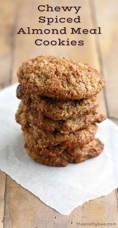 These chewy and delicious cookies are made with almond flour and cinnamon. A sweet and lightly spiced gluten free and vegan cookie recipe.