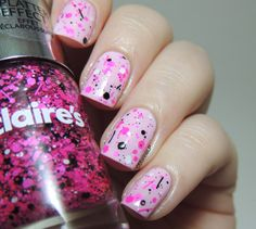 Maybelline Pink in the Park - Claire's Sequins Splatter Effect - Pastel - Glitter - Pink