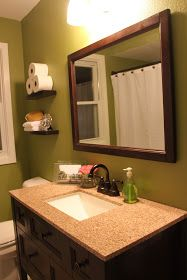 7 Cheap And Easy Ideas: Hall Bathroom Remodel Ceilings retro bathroom remodel faucets.Bathroom Remodel With Window Sinks narrow bathroom remodel bedrooms.Bathroom Remodel With Window Roman Shades. Narrow Bathroom, Bronze Bathroom, Simple Bathroom, Vanity Bathroom, Remodel Bathroom, Downstairs Bathroom, Bathroom Remodeling, Master Bathroom, Dark Green Bathrooms