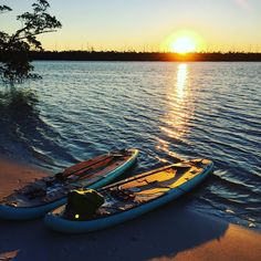 Perfect end to a perfect day of paddling around in St. Lucie Inlet Preserve State Park.