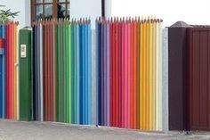 if fences were pencils