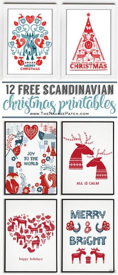 Deck your halls with some fun and beautiful Nordic whimsy this holiday season with these FREE Scandinavian Christmas Printables! Scandinavian Christmas Decorations, Scandi Christmas, Christmas Art, Christmas Holidays, Christmas Tables, Modern Christmas, Free Christmas Card, Reindeer Christmas, Plaid Christmas